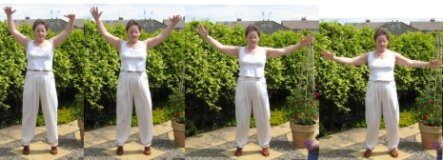 back exercise - flying like eagle