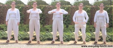 a tai chi class warm up exercise