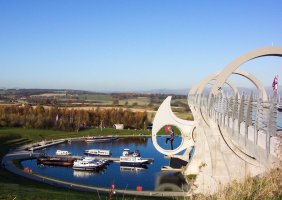 Falkirk wheel looks a bit like yin yang machine