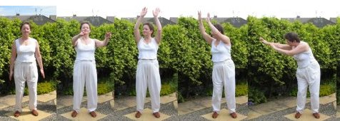 lower back exercise - turning like a windmill in a calm breeze