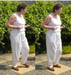 free qigong  exercise- - holding sun in one hand