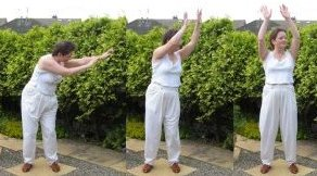 chi gong  exercise- - turning like a windmill in a calm breeze